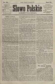 Słowo Polskie. 1901, nr73
