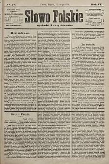 Słowo Polskie. 1901, nr77