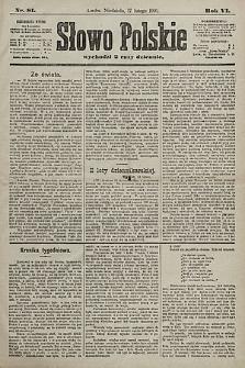 Słowo Polskie. 1901, nr81