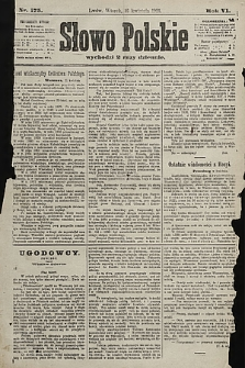 Słowo Polskie. 1901, nr175