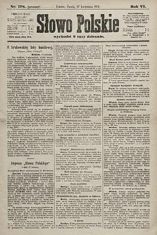 Słowo Polskie. 1901, nr178 (poranny)