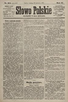 Słowo Polskie. 1901, nr184 (poranny)
