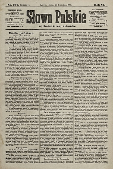 Słowo Polskie. 1901, nr190 (poranny)