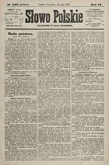 Słowo Polskie. 1901, nr249 (poranny)