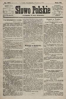 Słowo Polskie. 1901, nr278 (poranny)