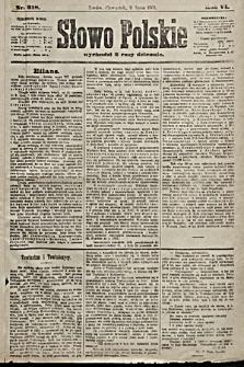 Słowo Polskie. 1901, nr318