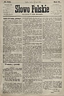 Słowo Polskie. 1901, nr340