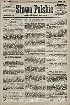 Słowo Polskie. 1901, nr347 (poranny)