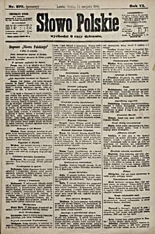Słowo Polskie. 1901, nr377 (poranny)