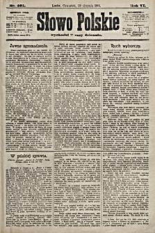 Słowo Polskie. 1901, nr401