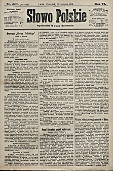 Słowo Polskie. 1901, nr402 (poranny)