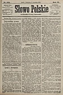 Słowo Polskie. 1901, nr419