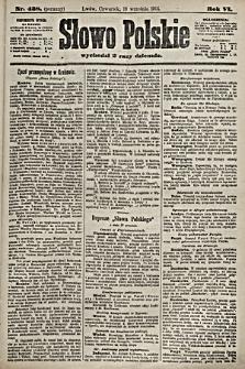 Słowo Polskie. 1901, nr438 (poranny)