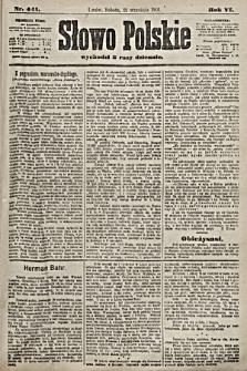 Słowo Polskie. 1901, nr441