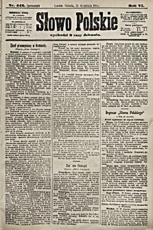 Słowo Polskie. 1901, nr442 (poranny)