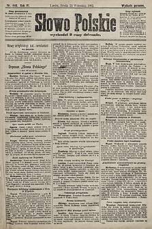 Słowo Polskie (wydanie poranne). 1901, nr448