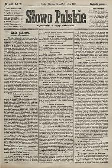 Słowo Polskie (wydanie poranne). 1901, nr490