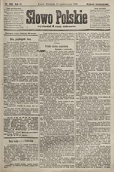 Słowo Polskie (wydanie popołudniowe). 1901, nr503