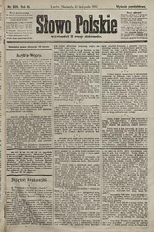 Słowo Polskie (wydanie popołudniowe). 1901, nr526
