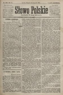Słowo Polskie (wydanie popołudniowe). 1901, nr528