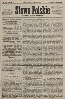 Słowo Polskie (wydanie popołudniowe). 1901, nr596