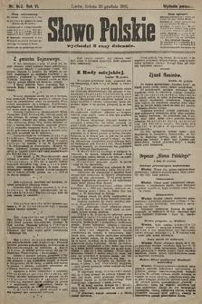 Słowo Polskie (wydanie poranne). 1901, nr605