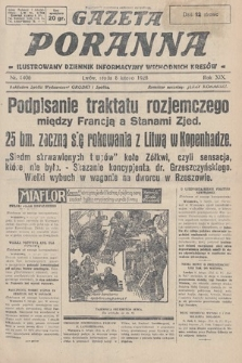 Gazeta Poranna : ilustrowany dziennik informacyjny wschodnich kresów. 1928, nr8406