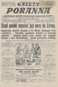 Gazeta Poranna : ilustrowany dziennik informacyjny wschodnich kresów. 1928, nr8411