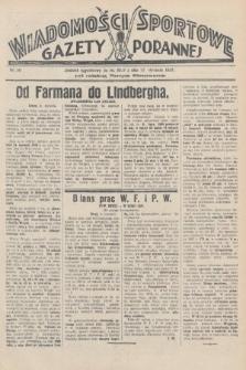 Wiadomości Sportowe Gazety Porannej. 1928, nr80