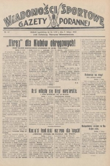 Wiadomości Sportowe Gazety Porannej. 1928, nr82