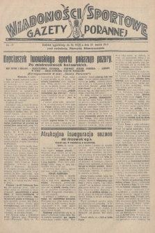 Wiadomości Sportowe Gazety Porannej. 1928, nr89