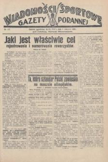 Wiadomości Sportowe Gazety Porannej. 1928, nr107