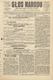 Głos Narodu : dziennik polityczny, założony w roku 1893 przez Józefa Rogosza (wydanie poranne). 1904, nr5