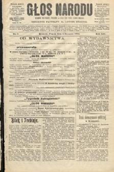 Głos Narodu : dziennik polityczny, założony w roku 1893 przez Józefa Rogosza (wydanie poranne). 1904, nr8