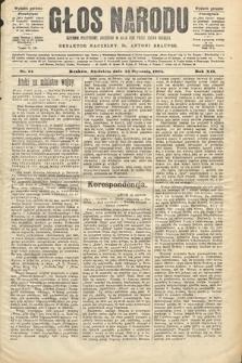 Głos Narodu : dziennik polityczny, założony w roku 1893 przez Józefa Rogosza (wydanie poranne). 1904, nr24
