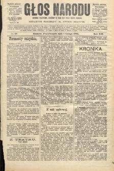 Głos Narodu : dziennik polityczny, założony w roku 1893 przez Józefa Rogosza (wydanie poranne). 1904, nr32
