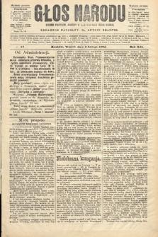 Głos Narodu : dziennik polityczny, założony w roku 1893 przez Józefa Rogosza (wydanie poranne). 1904, nr33