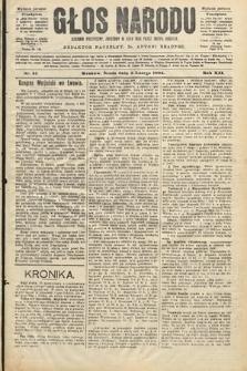 Głos Narodu : dziennik polityczny, założony w roku 1893 przez Józefa Rogosza (wydanie poranne). 1904, nr34