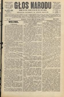Głos Narodu : dziennik polityczny, założony w roku 1893 przez Józefa Rogosza (wydanie poranne). 1904, nr43