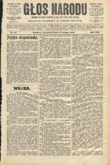 Głos Narodu : dziennik polityczny, założony w roku 1893 przez Józefa Rogosza (wydanie poranne). 1904, nr49