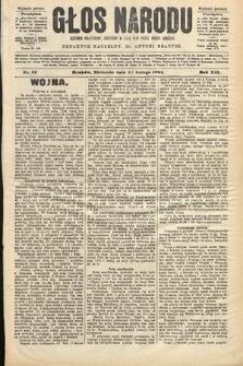 Głos Narodu : dziennik polityczny, założony w roku 1893 przez Józefa Rogosza (wydanie poranne). 1904, nr52