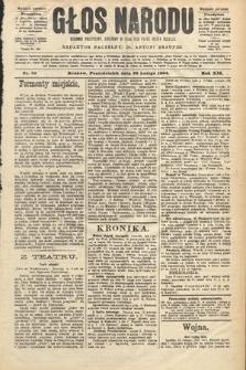 Głos Narodu : dziennik polityczny, założony w roku 1893 przez Józefa Rogosza (wydanie poranne). 1904, nr53