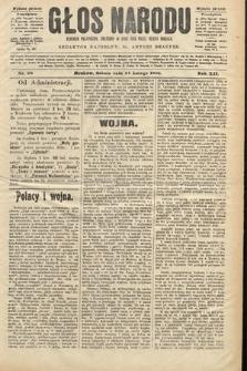 Głos Narodu : dziennik polityczny, założony w roku 1893 przez Józefa Rogosza (wydanie poranne). 1904, nr58