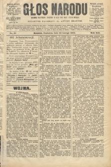 Głos Narodu : dziennik polityczny, założony w roku 1893 przez Józefa Rogosza (wydanie poranne). 1904, nr59