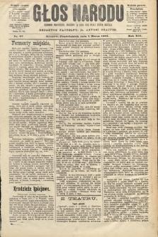 Głos Narodu : dziennik polityczny, założony w roku 1893 przez Józefa Rogosza (wydanie poranne). 1904, nr67
