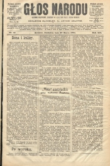 Głos Narodu : dziennik polityczny, założony w roku 1893 przez Józefa Rogosza (wydanie poranne). 1904, nr80