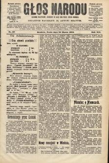 Głos Narodu : dziennik polityczny, założony w roku 1893 przez Józefa Rogosza (wydanie poranne). 1904, nr90