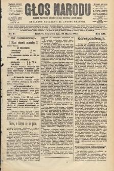 Głos Narodu : dziennik polityczny, założony w roku 1893 przez Józefa Rogosza (wydanie poranne). 1904, nr91