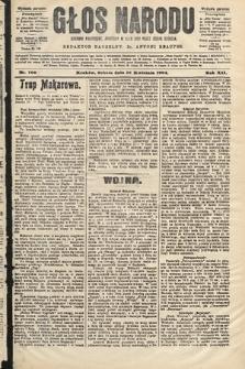 Głos Narodu : dziennik polityczny, założony w roku 1893 przez Józefa Rogosza (wydanie poranne). 1904, nr106