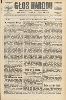 Głos Narodu : dziennik polityczny, założony w roku 1893 przez Józefa Rogosza (wydanie poranne). 1904, nr111
